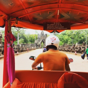 Tuk-tuking through Angkor Wat with Mr. Soviet at the helm